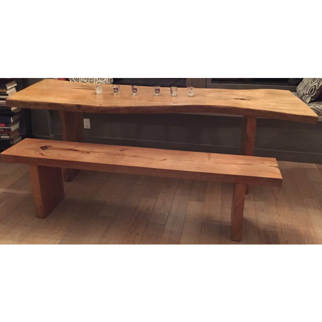 Rustic Wooden Dining Set - Image 2 of 2