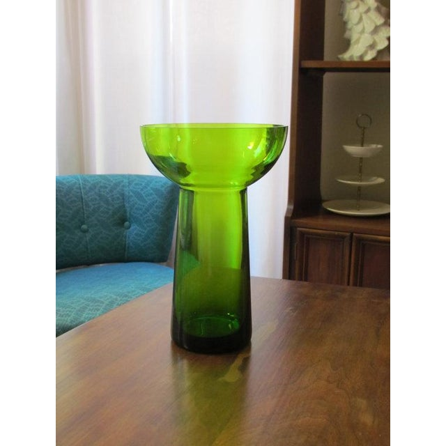 Vintage Scandanavian Green Art Glass Centerpiece - Image 2 of 6