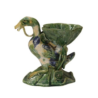 Handmade Clay Duck Vase