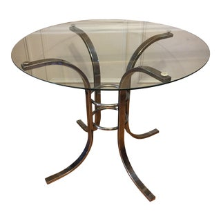 Concentric Circles Chrome Dining Table