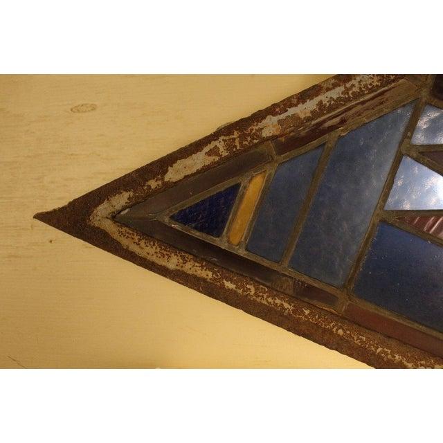 Antique Leaded Art Glass Window Sconces - A Pair - Image 10 of 10