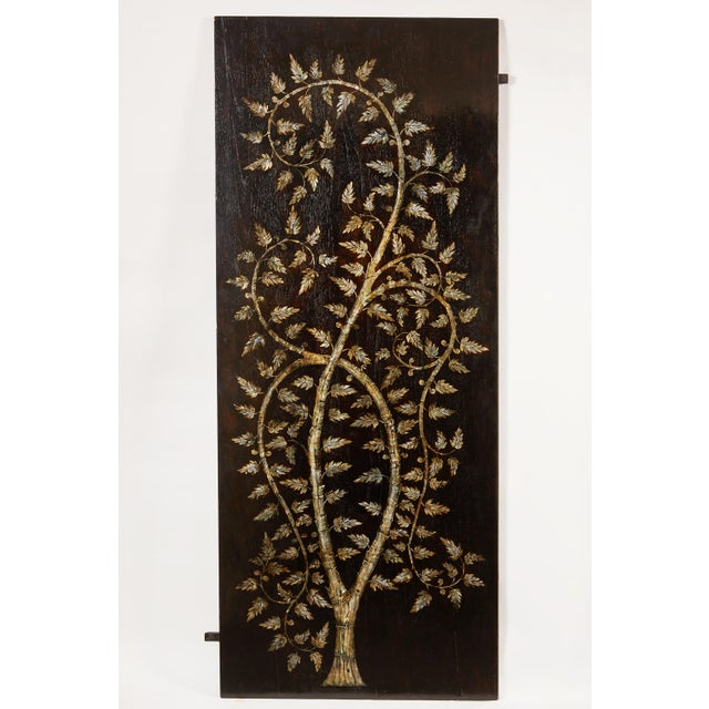 "Pair of MOP Inlaid ""Tree of Life"" Vietnamese - Image 3 of 6"