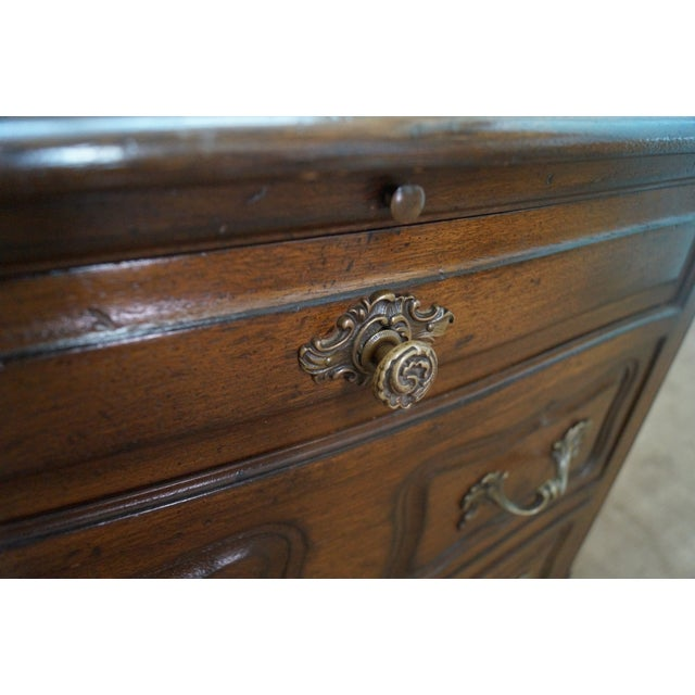 Custom Made Walnut French Louis XV Nighttands - Image 8 of 10