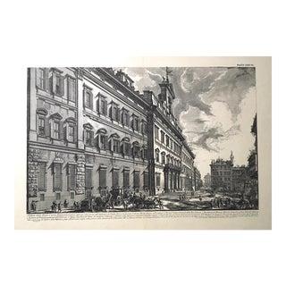 """""""Veduta Della Gran Curia Innocenziana"""" Antique Architectural Lithograph After Piranesi"""