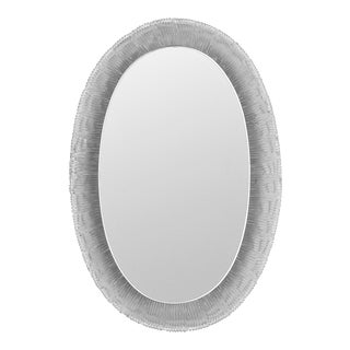Mid-Century Large Oval Back-Lit Wall Mirror