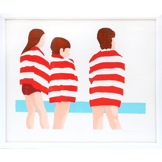 Phyllis Sussman Framed Serigraph - the Beach - Image 1 of 2