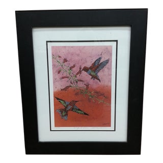 "Marilyn Salomon ""Wings at Dawn"" Original Batik Print"