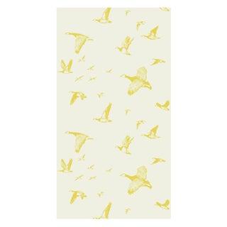 Pale Sun Flock in Flight Wallpaper - Double Roll