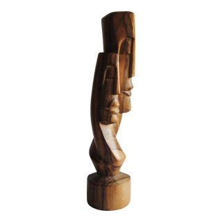 Hand Carved Wood Statue