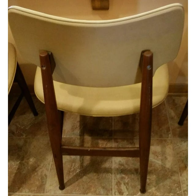 Thonet Mid-Century Yellow Vinyl Chairs - Set of 3 - Image 5 of 11