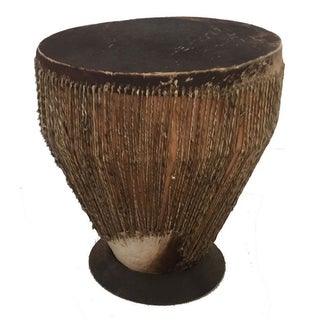 Rustic African Hide Drum