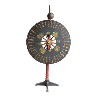 Antique Light Up Game Wheel