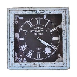 Antiqued Metal Hotel De Ville Clock