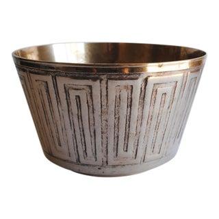 Vintage Etched Brass Bowl