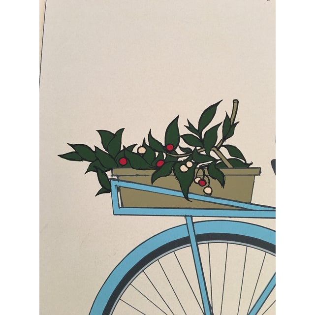 "Will Barnet ""Blue Bicycle"" Signed Serigraph - Image 3 of 11"