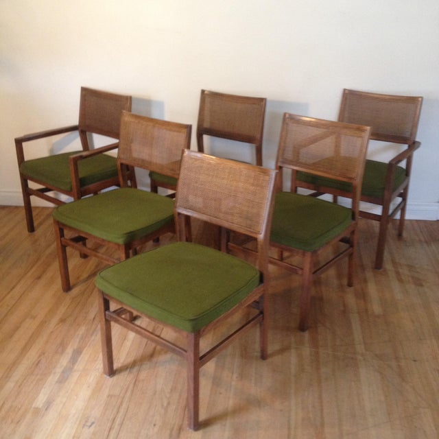 Image of Founders by Thomasville Cane Backed Dining Chairs