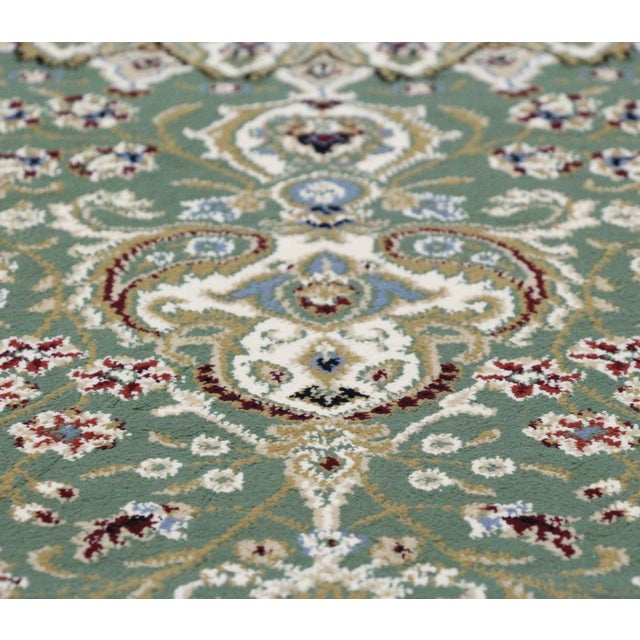 Traditional Medallion Green Rug - 5′3″ × 7′4″ - Image 5 of 8