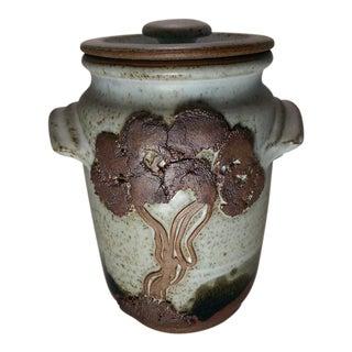 Vintage 70's Stoneware Pottery Jar