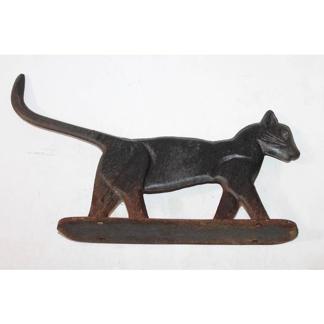 Image of 19th Century Cast Iron Cat Boot Scraper