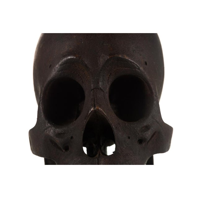 19th Century Hand Carved Wooden Skull - Image 4 of 9