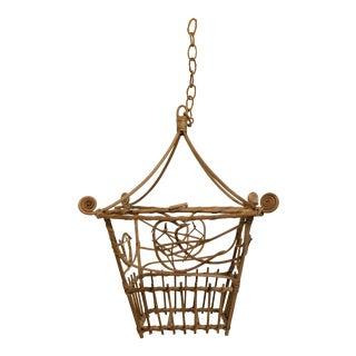 Vintage Wicker Pagoda Bird Cage