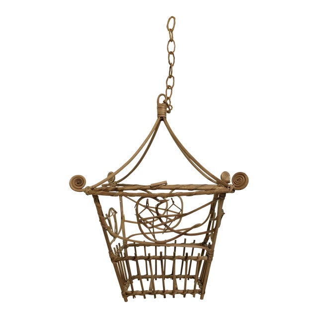 Vintage Wicker Pagoda Bird Cage - Image 1 of 4