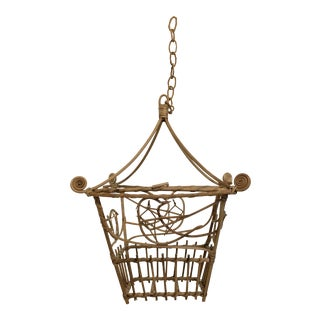 Vintage Wicker Pagoda Bird Cage
