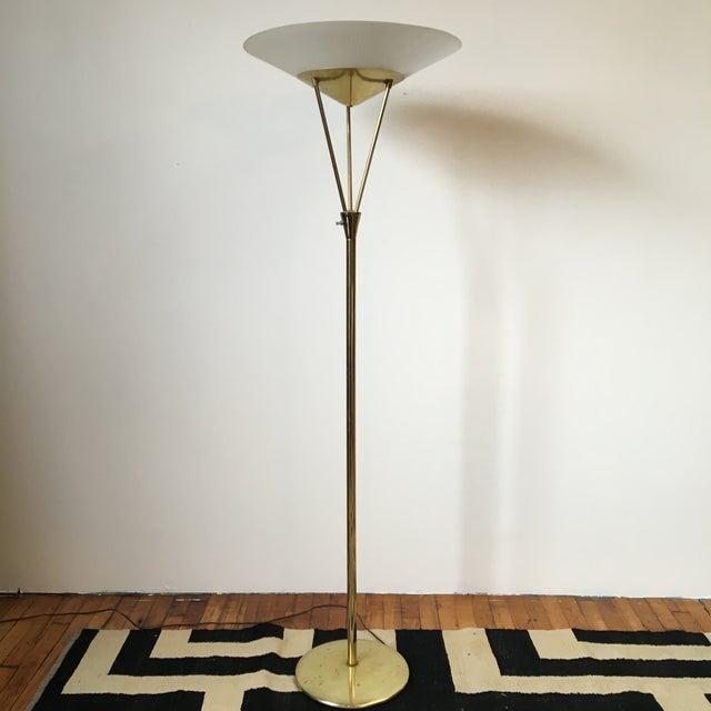 Gerald Thurston Reverse Tripod Brass Floor Lamp