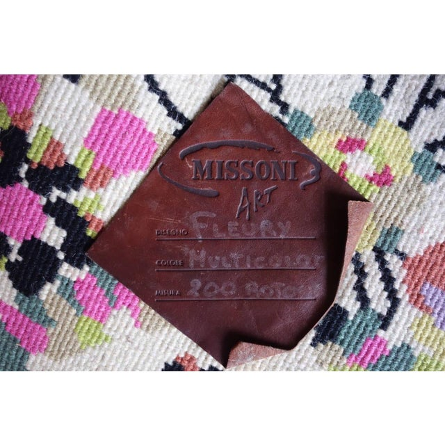 "Wool Missoni Rug - 6'8"" X 6'8"" - Image 8 of 8"