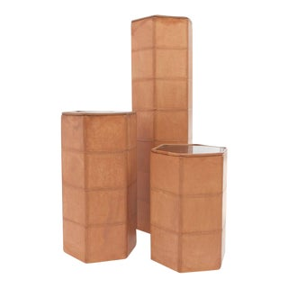 De Sede Leather Columns