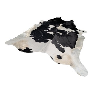 Black & White Cowhide Rug - 6′6″ × 7′1″