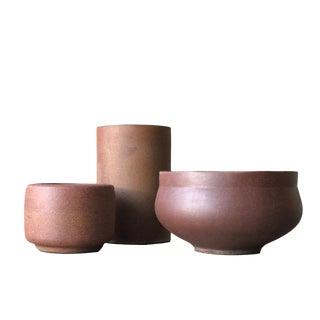 Architectural Pottery Trio.