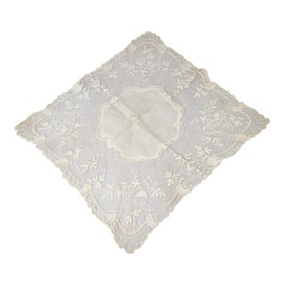 Antique Victorian Wedding Handkerchief