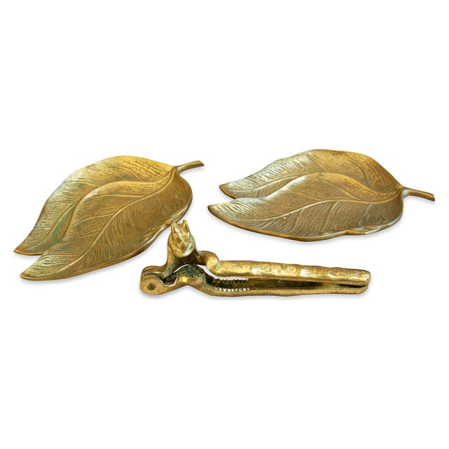 1950s Squirrel Nut Cracker & Leaf Trays - 3 Pieces - Image 2 of 5