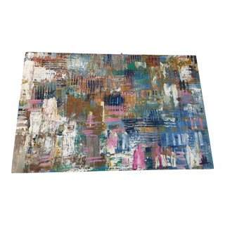 Abstract Textural Painting on Board