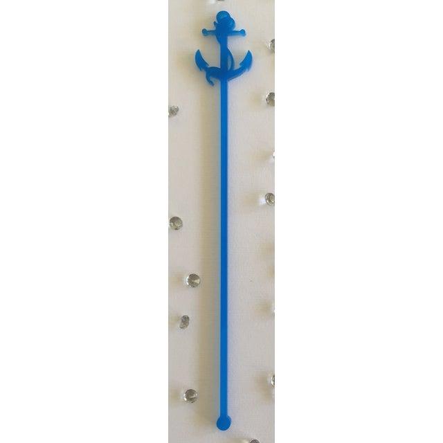 Image of Blue Anchor Drink Stirrers - Set of 6