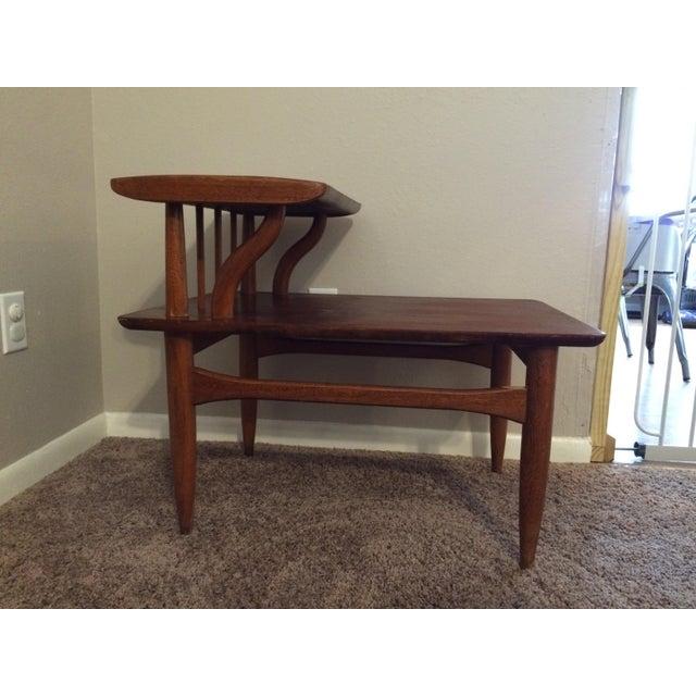 Vintage Mid Century Coffee Table Hawaiian Koa Wood By: Mid-Century Wooden Two Tier Side Table