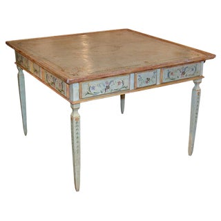 Decorative Italian Painted Games Table