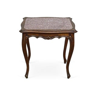 Antique French Hand Carved Bouilotte Table