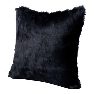 Charcoal Hair on Hide Pillow