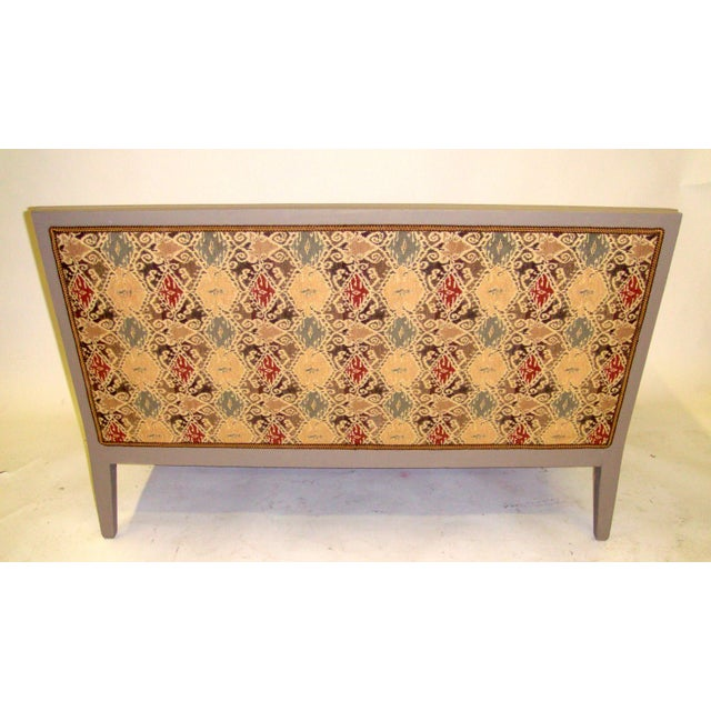 Louis XVI Style Painted Love Seat - Image 5 of 7