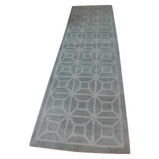 "Gray Blue Moroccan Runner - 2'3"" X 8'"