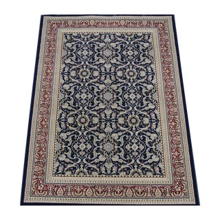 Navy Blue Herati Traditional Rug - 8' X 11'