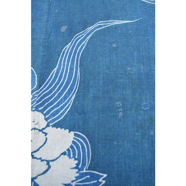 Antique Japanese Indigo Tsutsugaki Cloth - Image 4 of 6