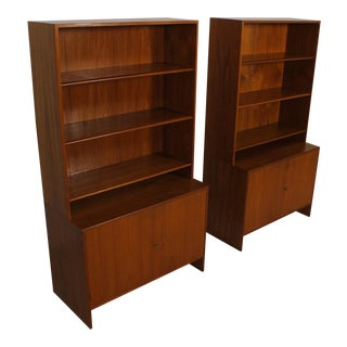 Rare Pair of Danish Modern Storage / Display Cabinets in Teak by Hans Wegner