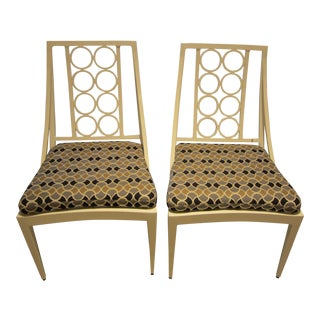 Brown Jordan Indoor/Outdoor Side Chairs - A Pair