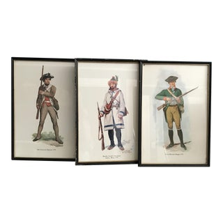 Early American Soldiers Prints - Set of 3