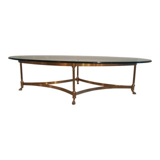 Vintage LaBarge Hollywood Regency Brass Coffee Table