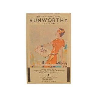 1932 Art Deco Sunworthy Fashion Print