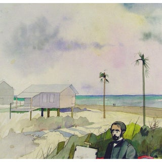 Artist at the Beach Watercolor